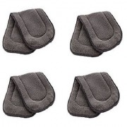 Kuhu Creations Washable Extra Thick 5 Layers Reusable Cloth Insert for Diaper/Nappy. (Grey 4 Unit)