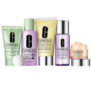 CLINIQUE DAILY ESSENTIAL (LOCION 125 ML + CR. OJOS 15 ML +JABON + LOCION + DESMAQUILLANTE) SET ESPECIAL PIEL MIXTA