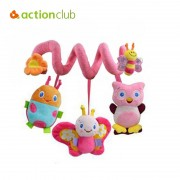 Actionclub infant Toys Baby crib revolves around the bed stroller playing toy car lathe hanging baby rattles Mobile 0-12 months