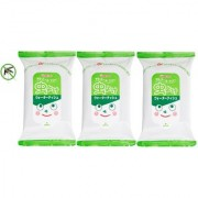 mosquito Repellent Wet Wipes/Tissues by Wakodo - Pack of 3 (Each Pack 20 pcs) - Made in JAPAN