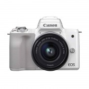 Canon EOS M50 CMOS 24.1MP 4K Wi-Fi Bluetooth Branca + EF-M 15-45 mm
