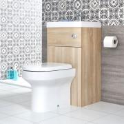 HudsonReed WC avec lave-mains – 50 cm x 89 cm – Chêne - Cluo