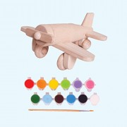 Brainsmith Paint and Play Airplane - Wooden Toys for 4 Years and Above - Early Learning Educational Toys - Play and Learn Toys - Fine Motor Skills Development - Improve Imagination and Creativity - Painting Activity - Birthday Gifts for Kids - Return Gift