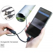 Somikon USB-HD-Endoskop-Kamera für PC und OTG-Android-Smartphone, 10 m, IP67