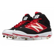 New Balance Mid-Cut 4040v3 Metal Baseball Cleat Black with Red