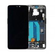 Estrutura para a Parte Frontal e Ecrã LCD para OnePlus 6 - Preto de Meia-Noite