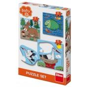BABY PUZZLE - UNDE LOCUIESC ANIMALELE? - DINO TOYS (325111)