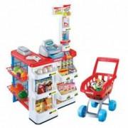 Supermarket cu 20 de accesorii diferite si scanere electronice bani Casa de marcat cu sunet si afisaj Cantar