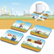 Super Mario: 3D Coasters underlŠgg (8-pack)