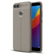 Para Huawei Honor 7a / Y6 (2018) Litchi Texture Soft TPU Protector Caso (gris)