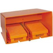 Comutator de picior dublu - ip66 - cu capac - metalic - portocaliu - 2 nc + 2 no - Comutator de picior - Harmony xpe - XPER3100D - Schneider Electric