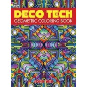 Deco Tech Geometric Coloring Book