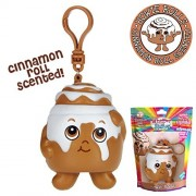 Whiffer Sniffers Squishers 'Howie Rolls' Slow Rising Squishy Toy Cinnamon Roll Scented Backpack Clip