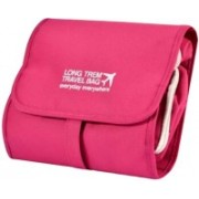 Xeekart Hanging Craft Cosmetic Organizer Bag - Make Up Bag / Toiletry Bag(Pink)