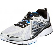 Fila Men's Threshold 3 Metallic Silver, Black and Prince Blue Running Shoes - 8 UK/India (42 EU)