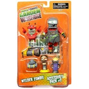 Plants vs. Zombies Garden Warfare Series 2 Welder Zombie & Accessory Pack 2 5' Action Figure 2-Pack