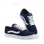 Zapatos De Lona De Hombres De Deportes De Ocio -Azul