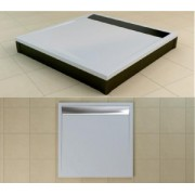 Cadiata de dus patrata SanSwiss din marmura sintetica ILA de 100x100x3,5 cm model seria WIQ