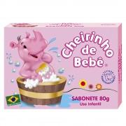 Sabonete Infantil Cheirinho de Bebê Rosa 80g
