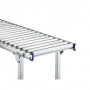 Gura Leicht-Rollenbahn, Stahlrahmen mit Stahlrollen verzinkt Bahnbreite 600 mm Achsabstand 100 mm, Länge 1 m