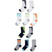 The Children's Place Boys' Athletic Crew Socks (Pack of 10), Multi Clr