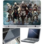 Finearts Laptop Skin Assassin Team With Screen Guard And Key Protector - Size 15.6 Inch