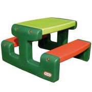 Little Tikes Junior Picnic Table Green and Orange
