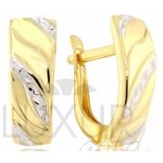Dámské mohutné náušnice z bílého a žlutého zlata 585/1,35gr 1430851