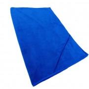 Twotags Microfibre Zip Pocket Large Towel Blue
