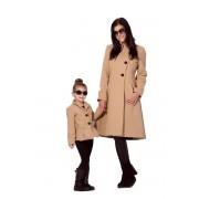 Máma a dcera kabát se stojáčkem
