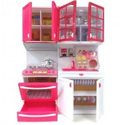 O&B Kitchen Play Set Toddler Pretend Play Kitchen Kit, Kitchen Play Set Toy for Kids ( Multi Color)