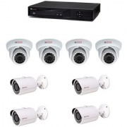 Cp Plus 04 Dome Camera 04 Bullet Cameras + 08 Channel Dvr + Connectors + Power Supply+ Hard 500Gb Disk + Wires Combo