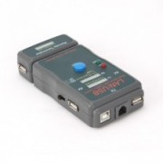 TESTER CABLU DE RETEA RJ-45 UTP/STP si USB, 3 butoane (AUTO, POWER SI TEST) SI 3 ECRANE DE IDENTIFICARE,COMPATIBIL: CABLURI SUPORTATE: STP/UTP, USB (A/A), USB (A/B), RJ11, TJ12, Gri, GEMBIRD NCT-2