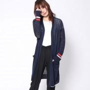 【SALE 40%OFF】トミーヒルフィガー TOMMY HILFIGER オープンロングカーディガン (ネイビー)