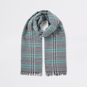 River Island Womens Black boucle check scarf (One Size)