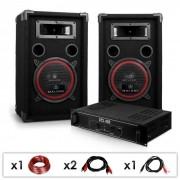 Electronic-Star DJ 12 Set de sonido profesional Altavoces + amplificador (PL-1180-2679)