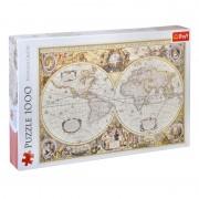 Puzzle Trefl, 1000 piese, model harta lumii