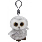 Jucarie plus cu breloc 8.5 cm Beanie Boos OWLETTE - white owl TY
