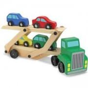 Детски дървен автовоз с коли - 14096 - Melissa and Doug, 000772140966