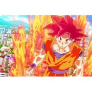 goku god form sticker poster|dragon ball z poster|anime poster|size:12x18 inch|multicolor