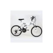 Bicicleta Aro 20 Full Suspension V-brake 18v Kanguru Polimet - Branca