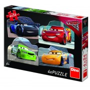 Puzzle 4 in 1 Dino Toys Cars 3, 54 piese, 4-6 ani
