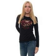 Guess T-shirt Nero/oro Cotone Donna