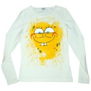 Tricou baieti pictat manual, 6-7 ani, SpongeBob