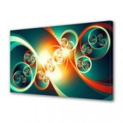 Tablou Canvas Premium Abstract Multicolor Cerc In Cerc Decoratiuni Moderne pentru Casa 80 x 160 cm
