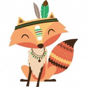 Stickers Muraux Stickers renard indien