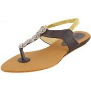 Footgear Girls Flats(Brown)