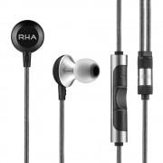 RHA MA600i - слушалки с микрофон и управление на звука за iPhone, iPod, iPad и мобилни устройства (черен)