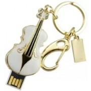 Green Tree Guitar Pendrive Metal USB Flash Drive 64 GB Pen Drive(White)
