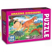 Tingoking Learning and Educational Amazing Dinosaurs (100 Pieces Puzzle)